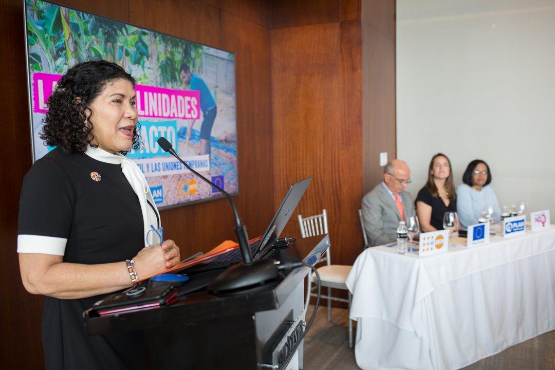 Sonia Vásquez, representante nacional del UNFPA.