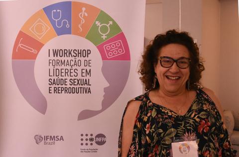 Jacque foi uma das convidadas de evento com estudantes de medicina promovido pelo UNFPA em 2018